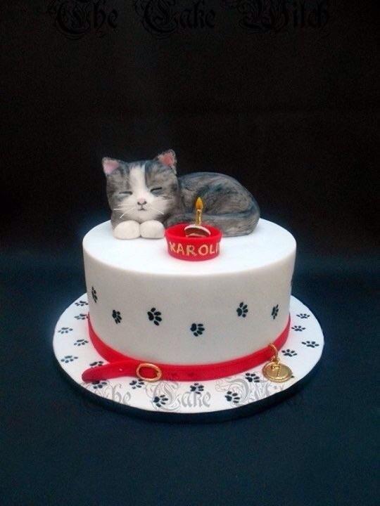 Peachy Birthday Kitten By Nessie The Cake Witch Kitten Cake Birthday Funny Birthday Cards Online Overcheapnameinfo