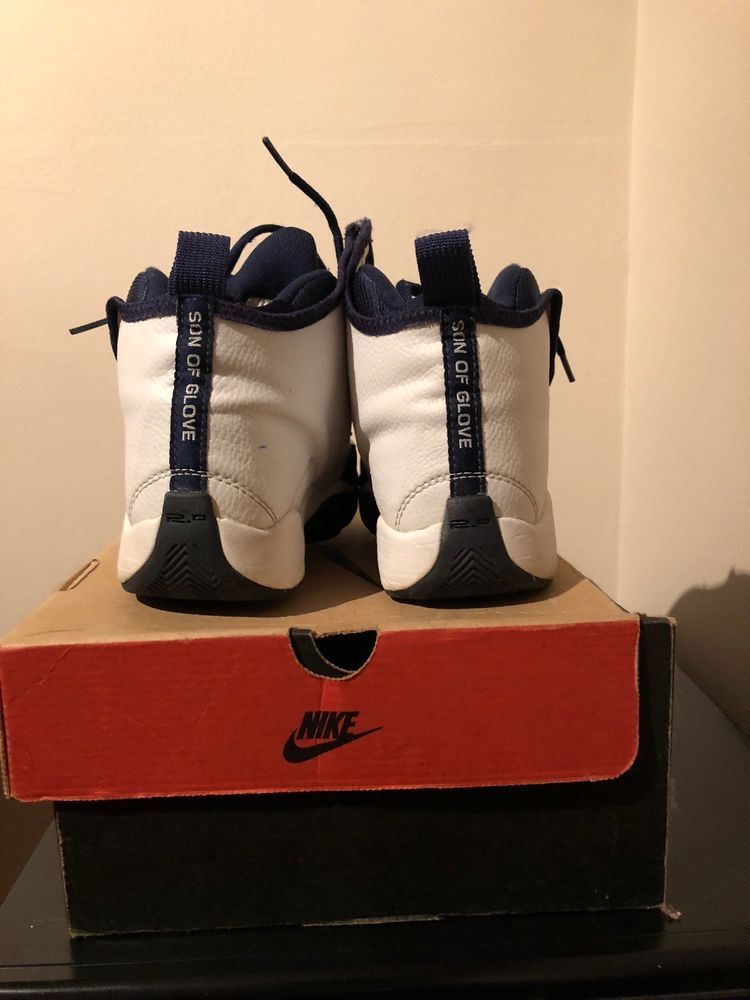Nike Air Son Of Glove Basketball Shoe Size 6 5 Boys Mens White And Navy Retro Basketball Shoes Athletic Shoes Shoes