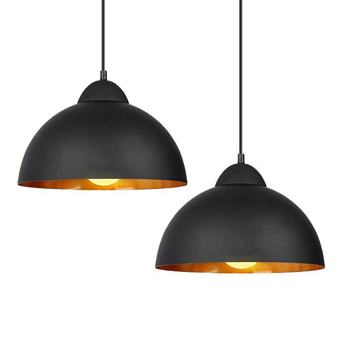 Amazon Com Deckey Pendant Light 2 Pack Ceiling Hanging Pendant