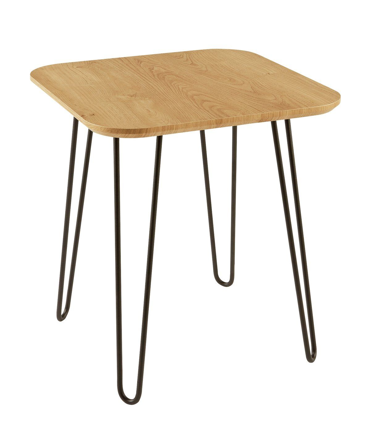 Argos Home Klark Hairpin End Table Light Wood Effect Argos Home End Tables Light Table [ 1381 x 1253 Pixel ]