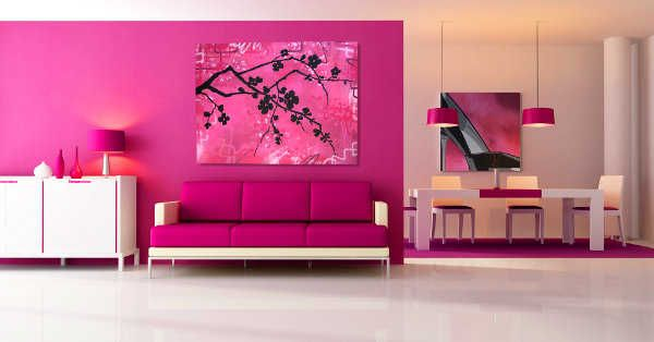 DECORACIÓN DE SALAS COLOR ROSA by artesydisenos.blogspot.com ...