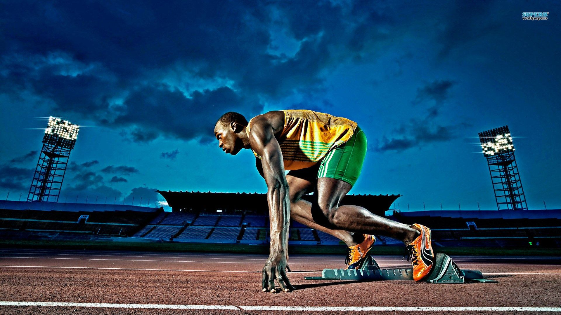 HD Widescreen Usain Bolt Wallpaper 463 KB