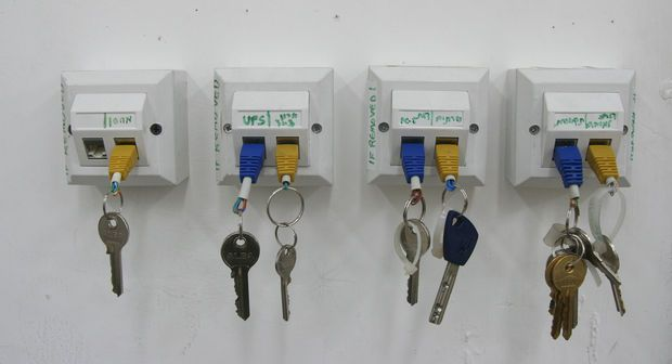 Rj 45 Key Chain And Rack Key Holder Diy Key Rack Diy Key Rack