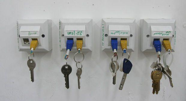 Rj 45 Key Chain And Rack Key Holder Diy Key Rack Diy Key Rack
