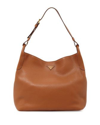 dedc34e8c0e1 ... amazon vitello daino single strap hobo medium brown by prada at neiman  marcus.