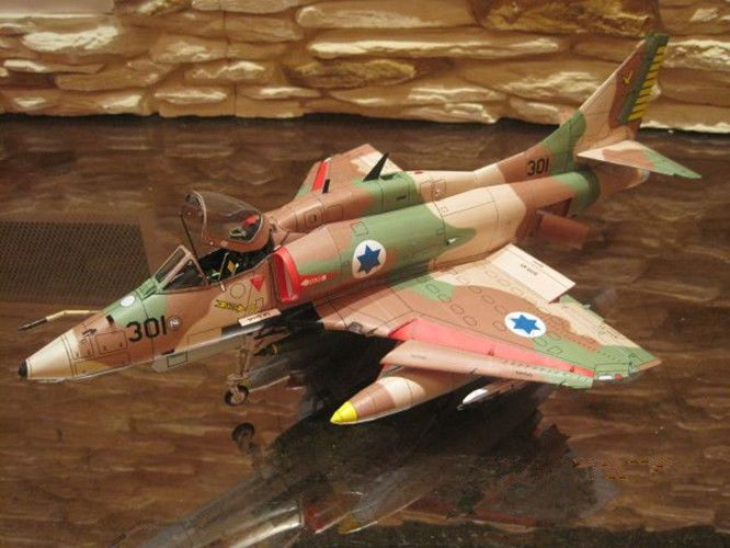 Douglas A-4 Skyhawk Attack Aircraft DIY Handcraft Paper Model Kit 1:32 Scale