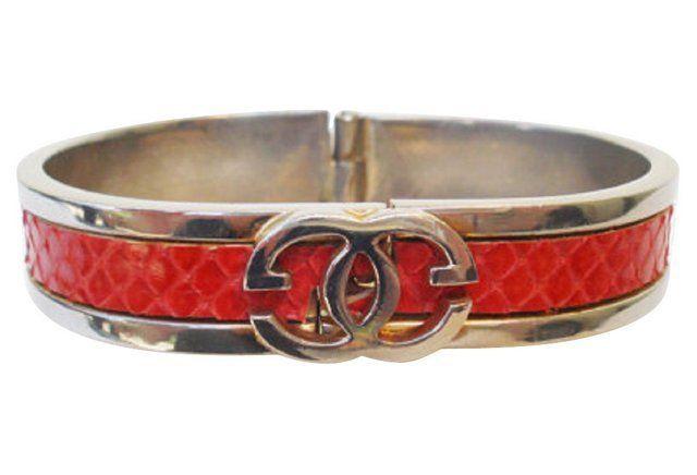 ec52fc880 Gucci Red Snakeskin Bangle   Jewelry: Bracelets, Bangles, Cuffs ...
