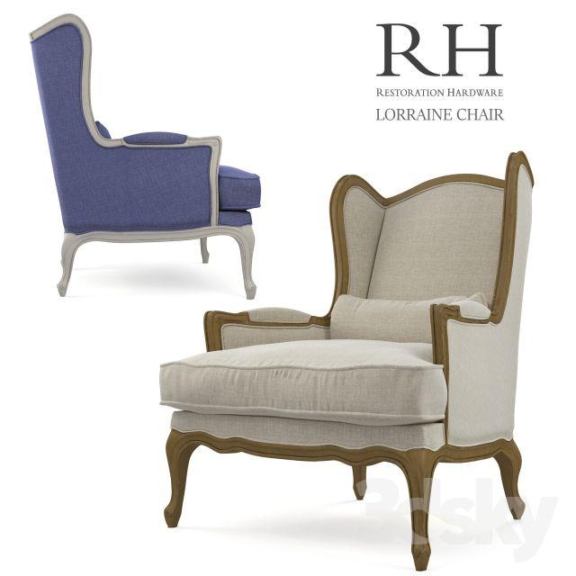 Armchair Restoration Hardware Lorraine Chair