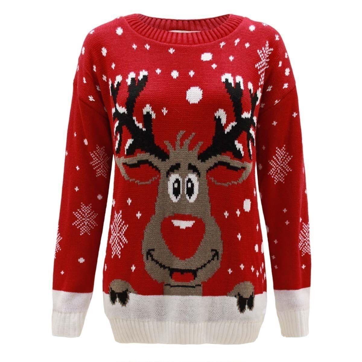 Kersttrui Olaf.Ladies Womens Mens Unisex Olaf Xmas Christmas Novelty Knitted Jumper