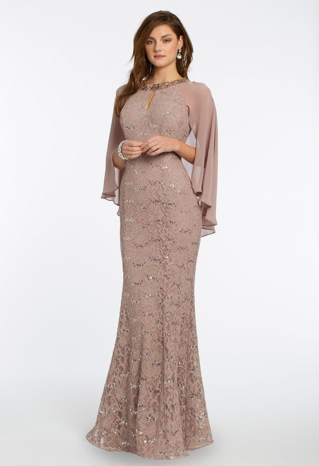 41196492fc27 Sequin Lace Cape Dress from Camille La Vie | MBDresses in 2019 ...
