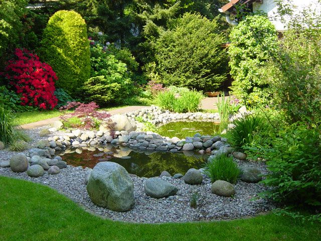 Teiche, Bachläufe, Quellsteine und Becken von Koch Garten- und - bilder gartenteiche mit bachlauf