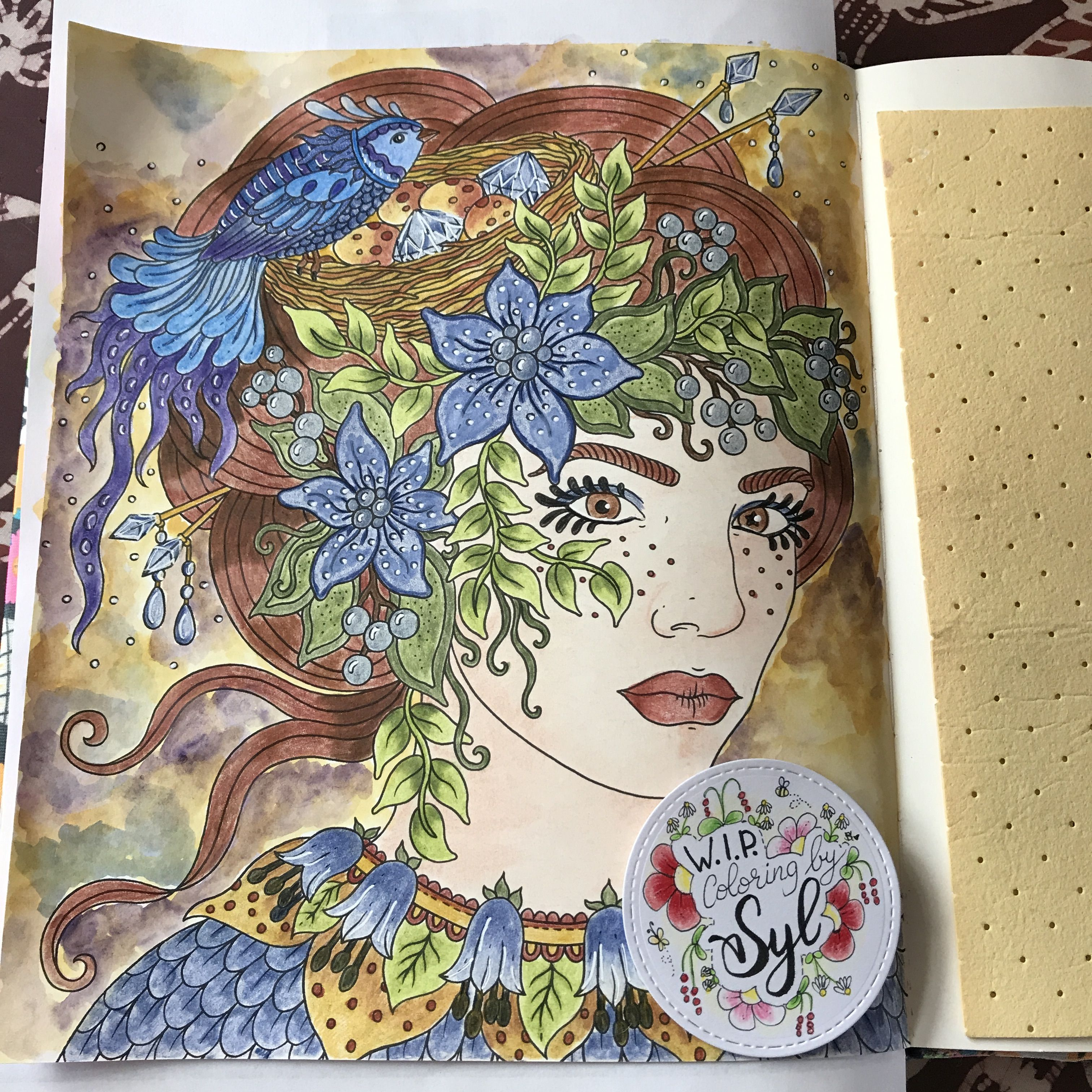 Hanna Karlzon Uit Het Boek Tijdperk Coloringbysyl Kleurplaten Boeken