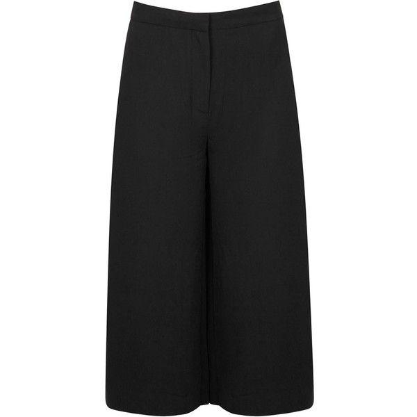 Samsøe & Samsøe Womens Culottes Samsøe & Samsøe Cask Black Crepe... (290 AUD) ❤ liked on Polyvore featuring shorts, culottes shorts, samsøe & samsøe, black shorts and black culottes