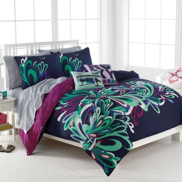 neon teen girls bedding | Forest Scene Full Size Bright Color ...