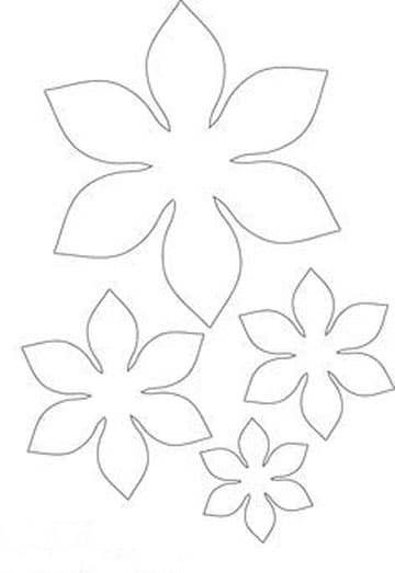 moldes de flores de papel faciles