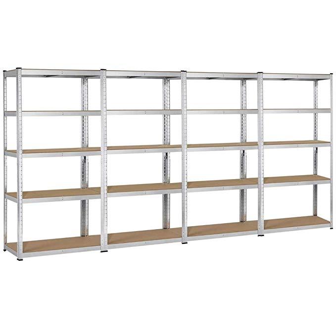 Topeakmart 5 Tier Storage Rack Heavy Duty Adjustable Garage Shelf