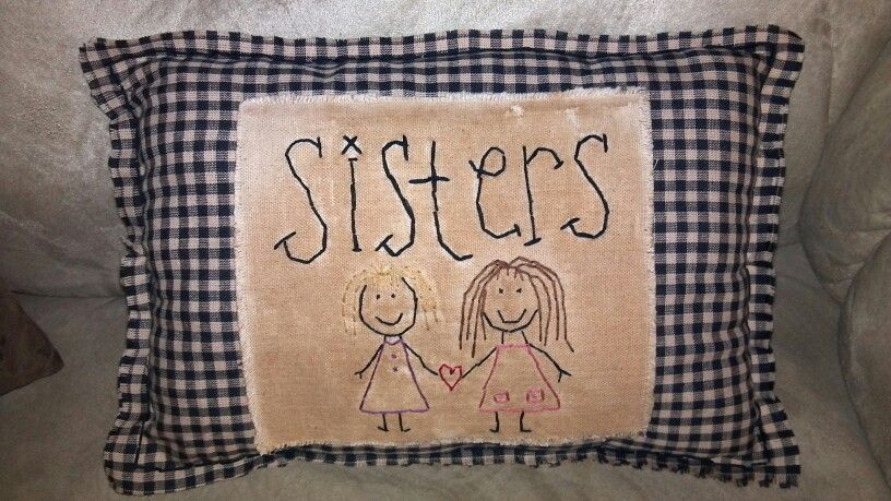 Sweet sisters Pillow