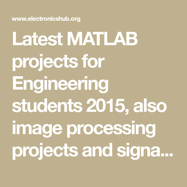 60+ MATLAB Projects For Engineering Students | Raspberry pi