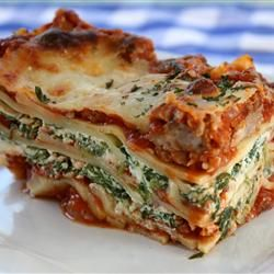 Wavy Lasagna With Meat Sauce Fresh Ricotta And Spinach Recipe Recipe Spinach And Meat Lasagna Lasagna Recipe With Ricotta Easy Lasagna Recipe