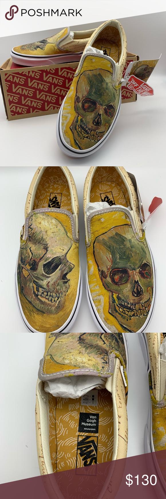 Van Gogh X Vans Skull Slip Ons Vans Van Slip On