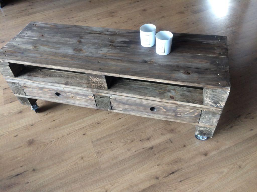 Lowboard Mit Schubladen Paletten Tisch Palettentisch Couchtisch Palette