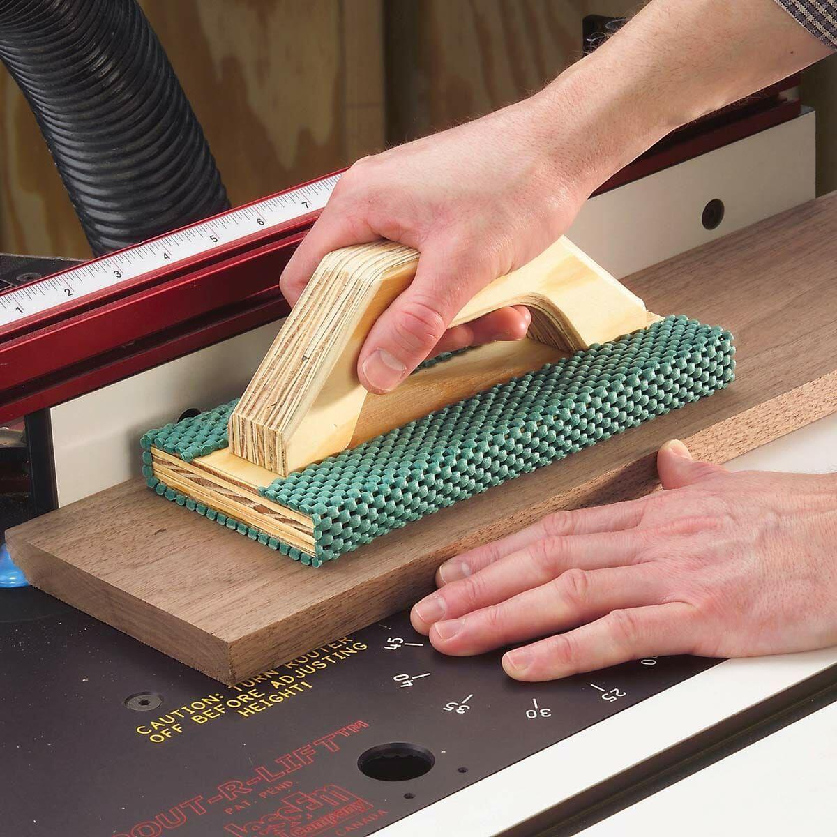 ShelfLiner Push Block Diy table saw, Table saw, Table