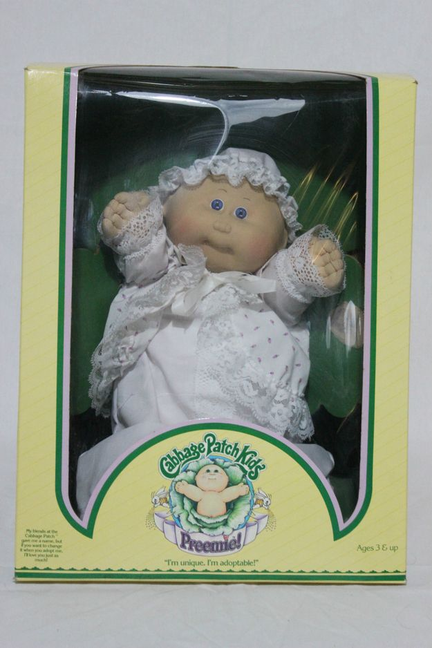 Cabbage Patch Kids Preemies The Most Wtf Toy Of The 80s Cabbage Patch Kids Cabbage Patch Kids Dolls Cabbage Patch Babies