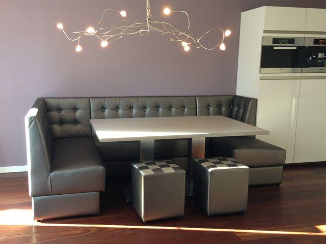 Complete hoekbank Wand eethoekbank Eetkamer particulier loungebank ...