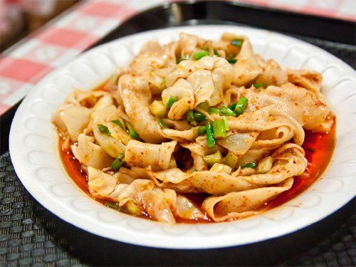 Fancy xian famous foods spicy hot oil seared hand ripped food forumfinder Image collections