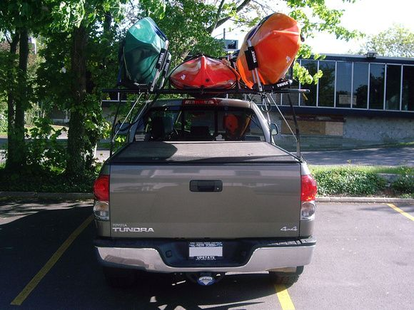 Best Way To Carry Kayaks Toyota Tundra Kayaking Tundra