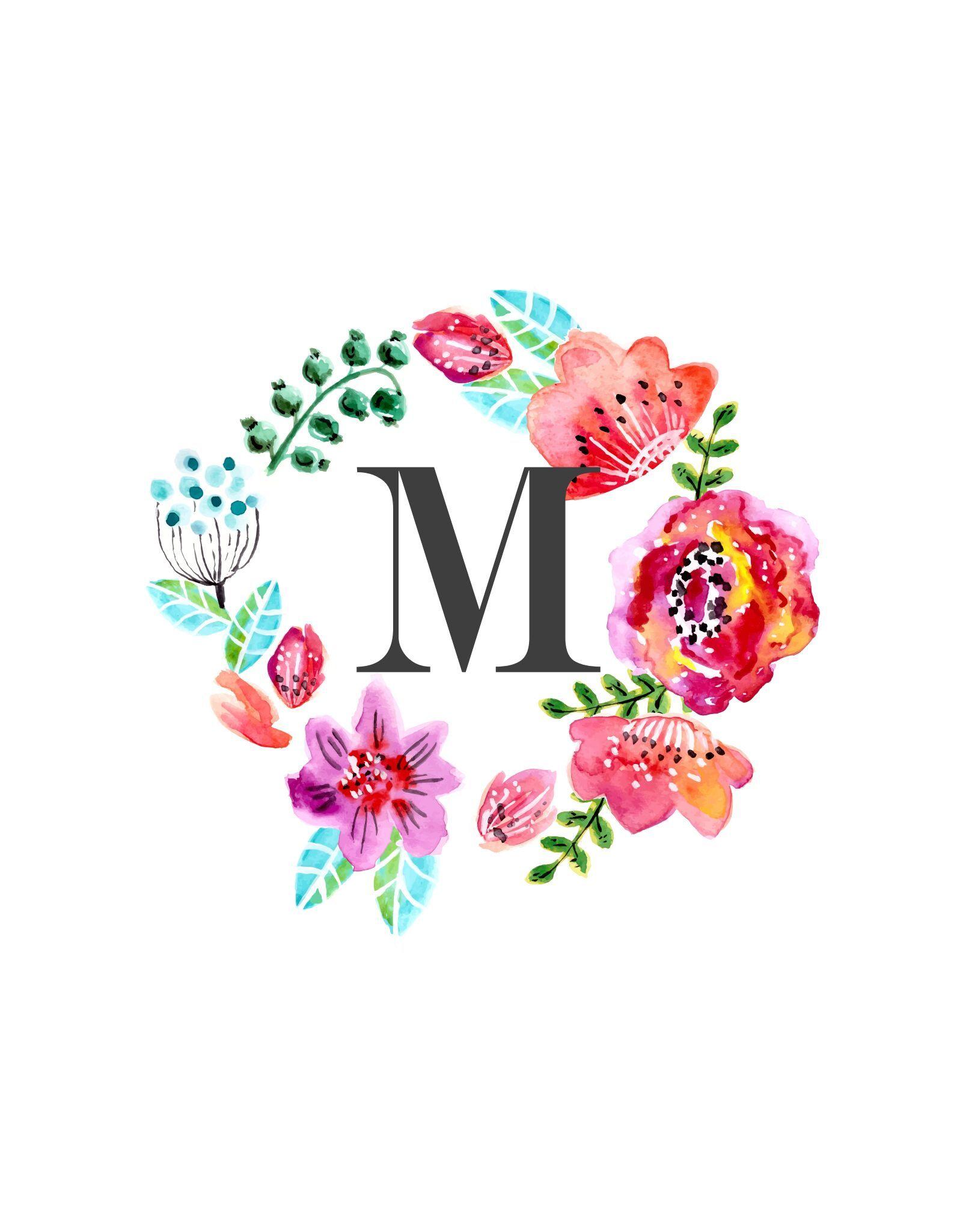 Shared With Dropbox Monogram Backgrounds Floral Monogram Alphabet Wallpaper