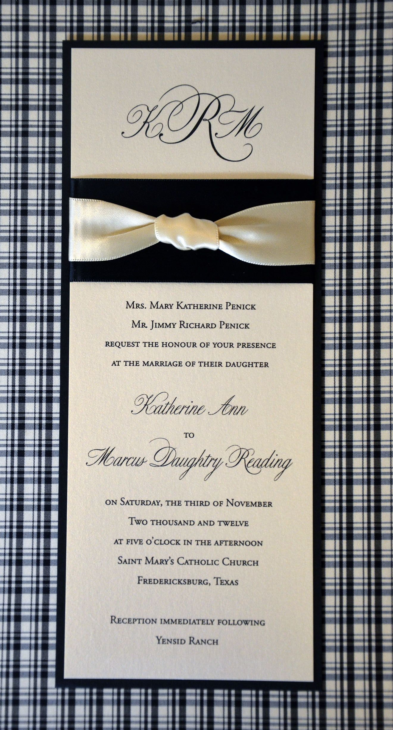 This tea length wedding invitation was for a destination wedding in ...