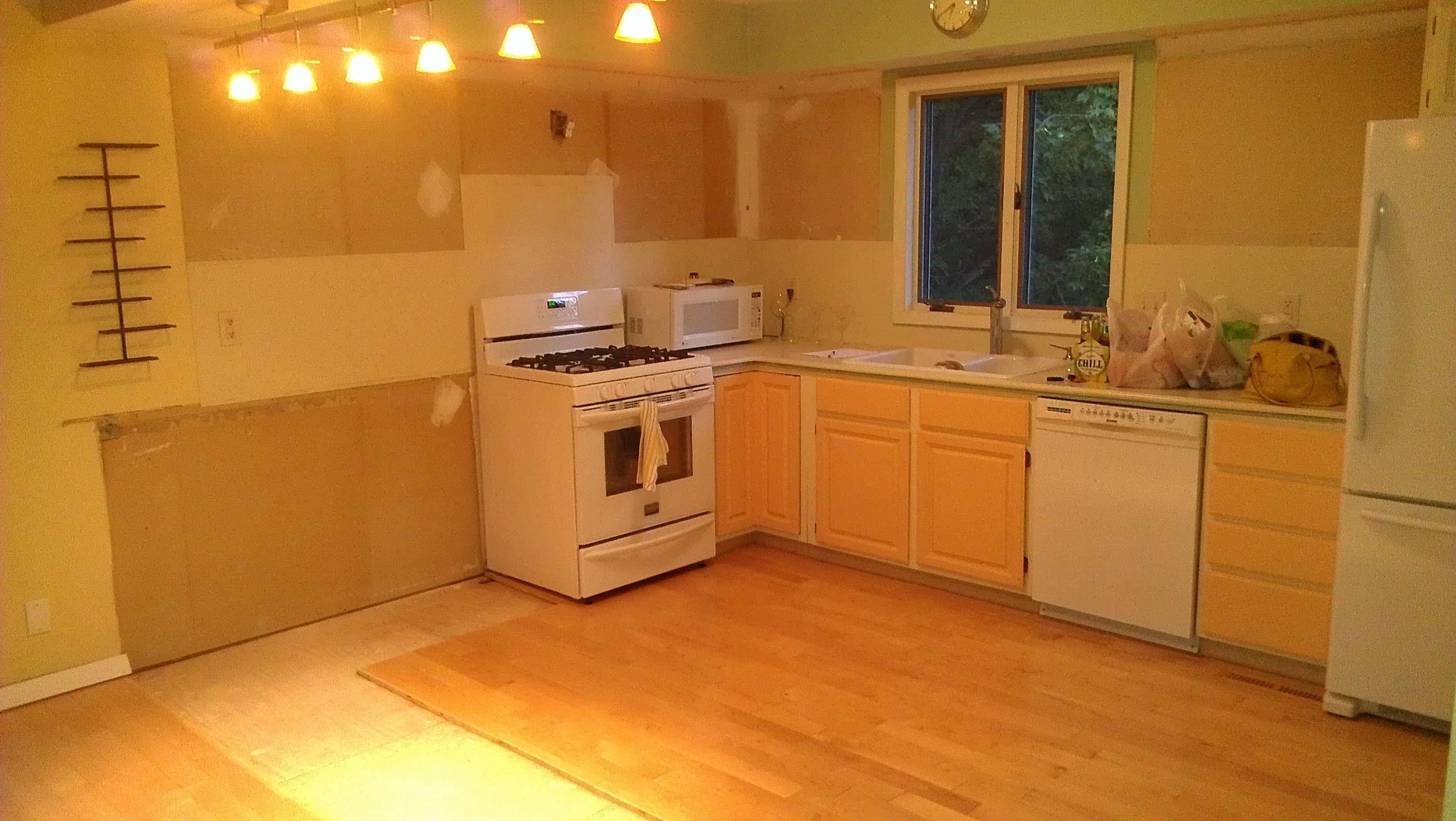 Before Partially Demolished Kitchen Kitchen Remodel Kitchen Cabinets