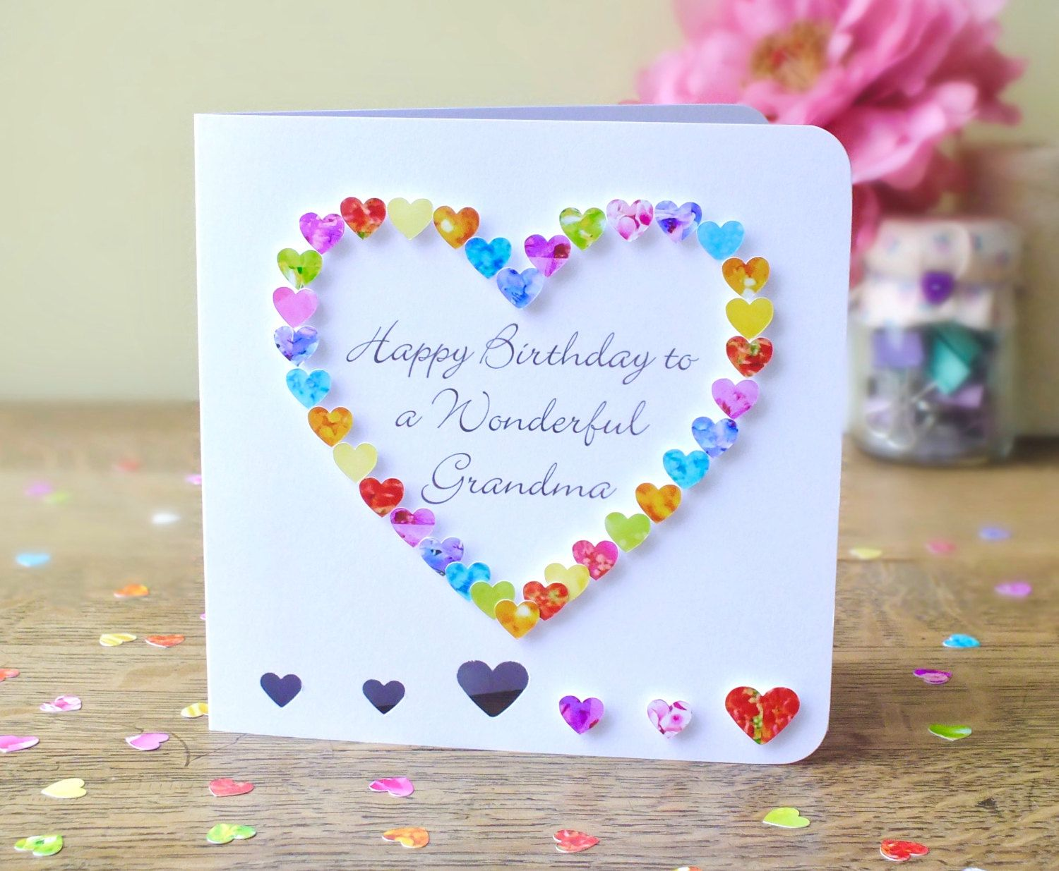 Grandma Birthday Card Handmade Personalised Birthday Card For Gran