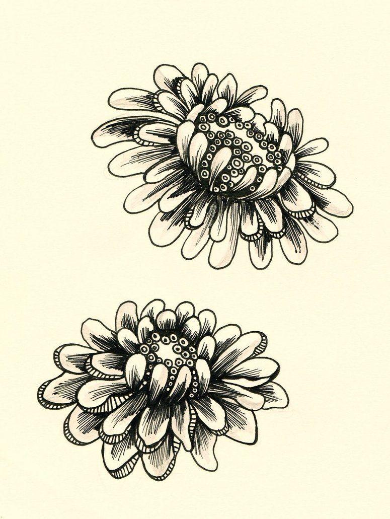 Big Flower By Lindzb Dessin Fleur Fleurs Couleur