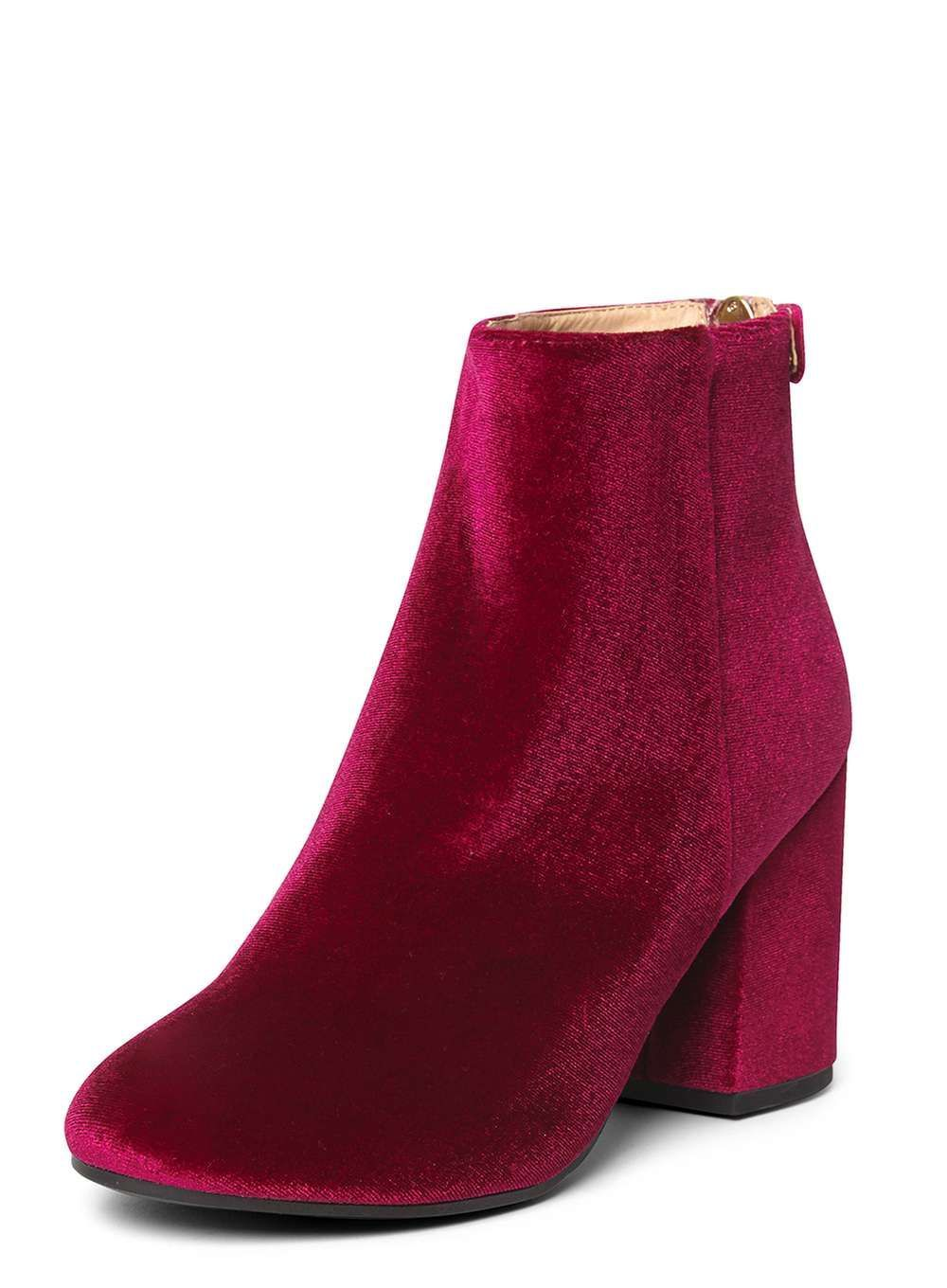 799fa81eaf5 Cerise 'Mariah' Velvet Boots | Girly | Boots, Velvet shoes, Block ...