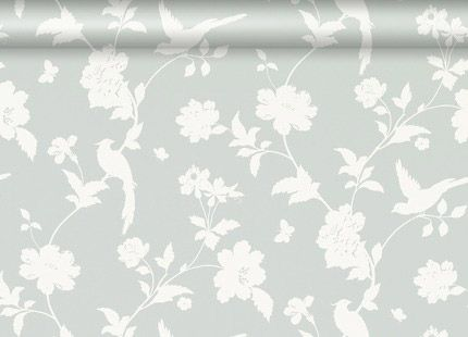 Laura Ashley Bird Wallpaper Grey Floral Wallpaper Bird Wallpaper Bedroom Feature Wall Wallpaper