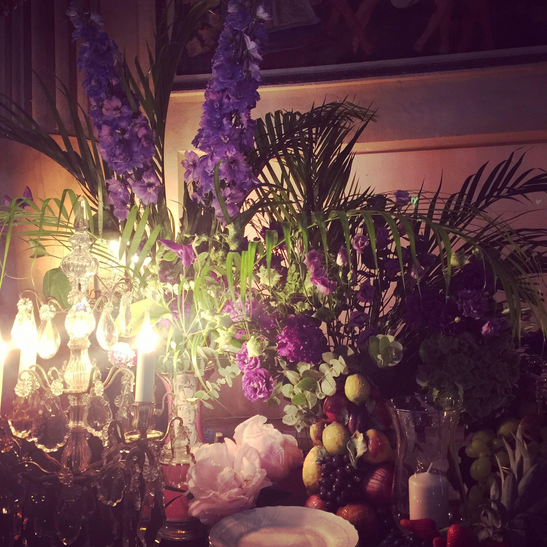 valentino'flowers delphinium citrons aubergines areca #marianneguedin #dinguedeguedin