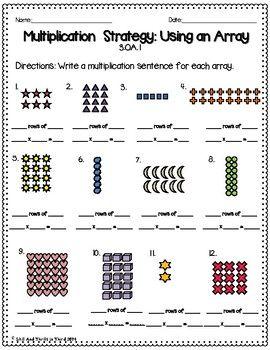 Multiplication: Using Arrays Worksheets | Multiplication, Worksheets ...