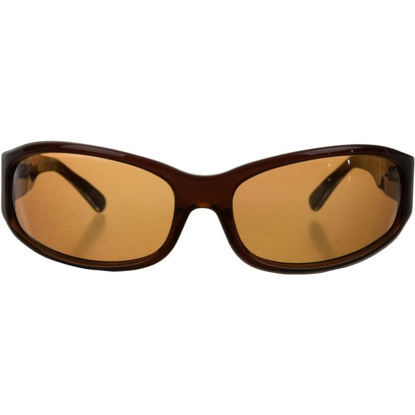 Pre-owned Oliver Peoples Resin Gradient Lens Sunglasses (430 DKK) ❤ liked on Polyvore featuring accessories, eyewear, sunglasses, brown, gradient lens sunglasses, gradient tint sunglasses, oliver peoples glasses, brown sunglasses and oliver peoples sunglasses