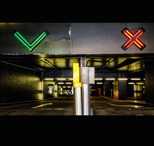Spacing Of Parking Lot Lights: Wayfinding And Signage - Car