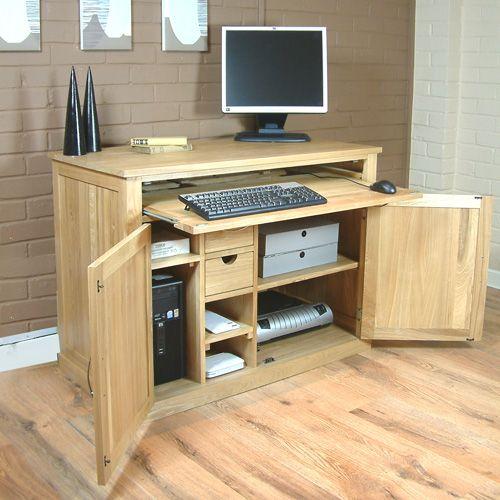 Details About Fusion Solid Oak Furniture Hidden Computer