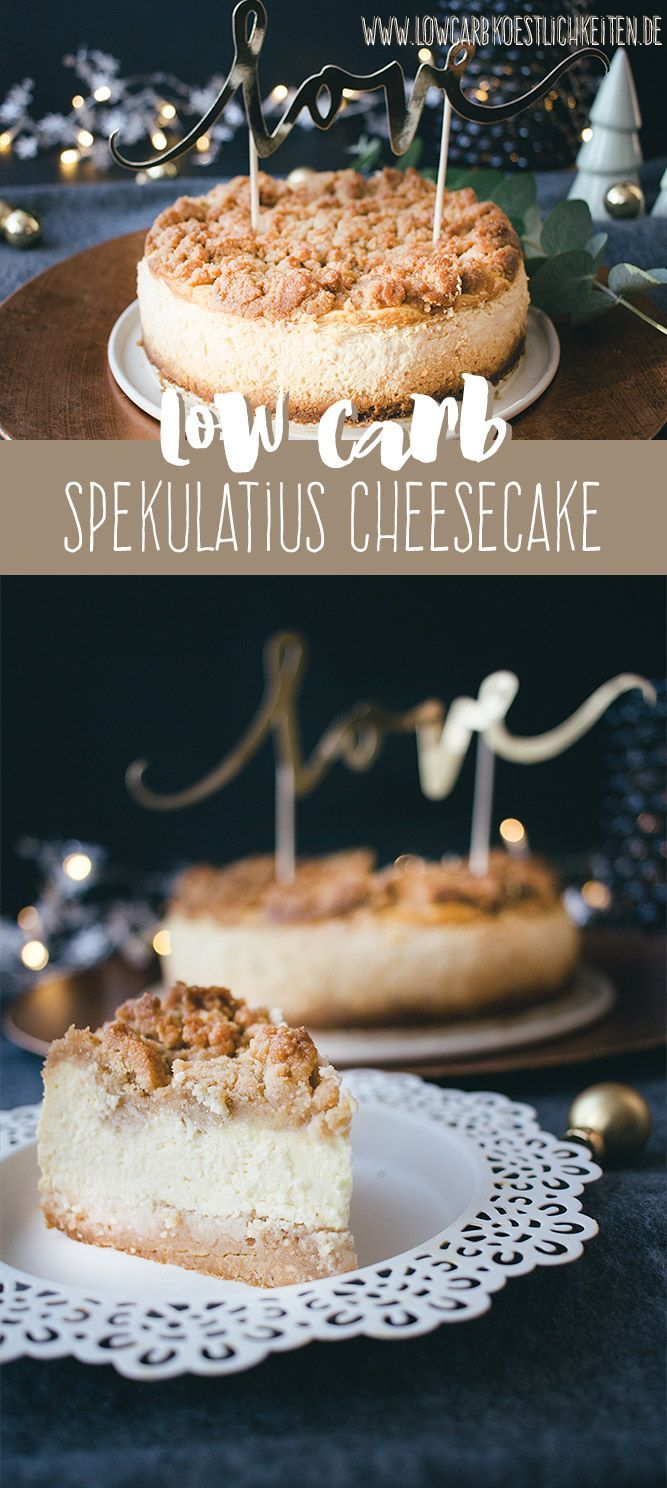 Low Carb Spekulatius-Streusel-Cheesecake