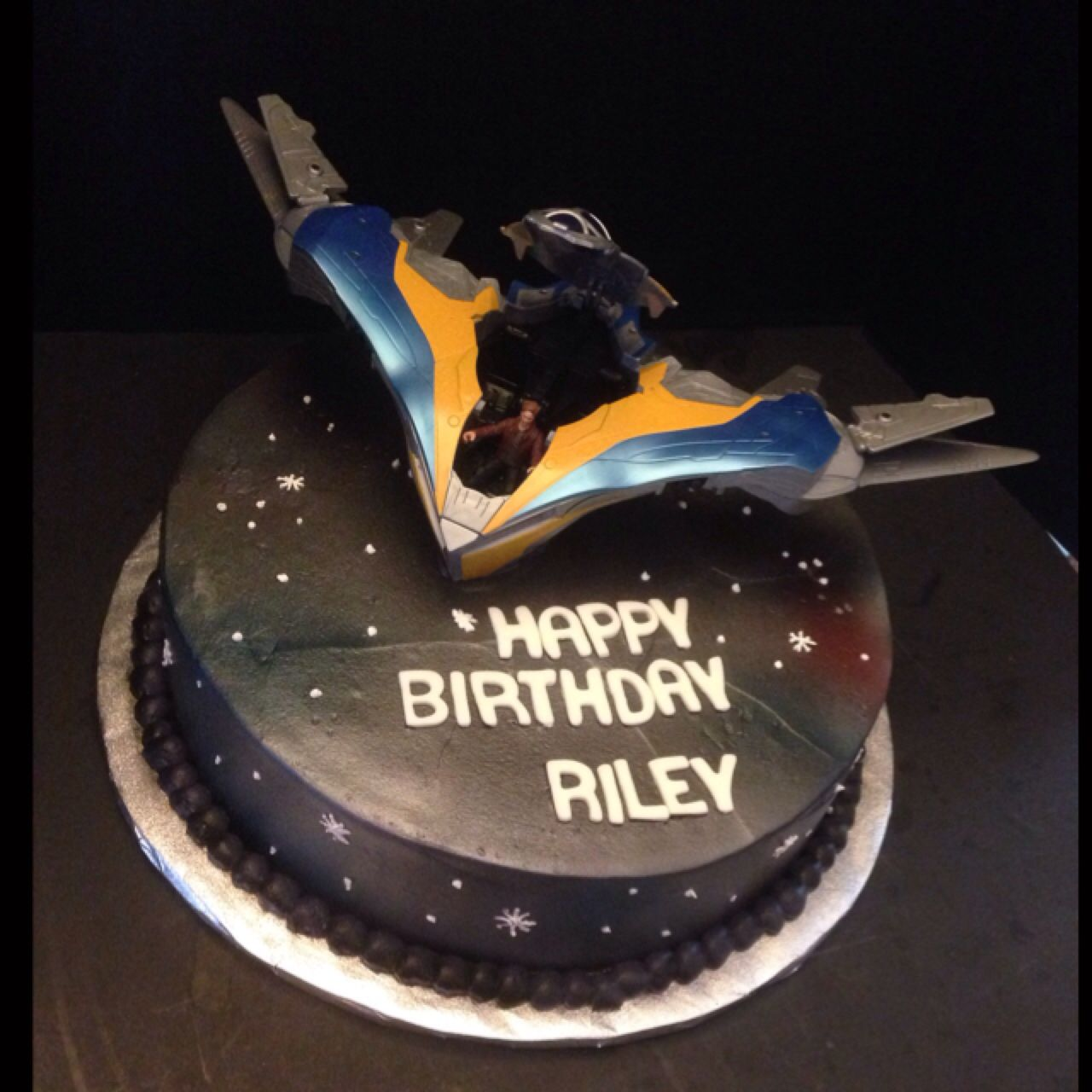 Guardians of the galaxy birthday cake for my fiancé who is crazy ...