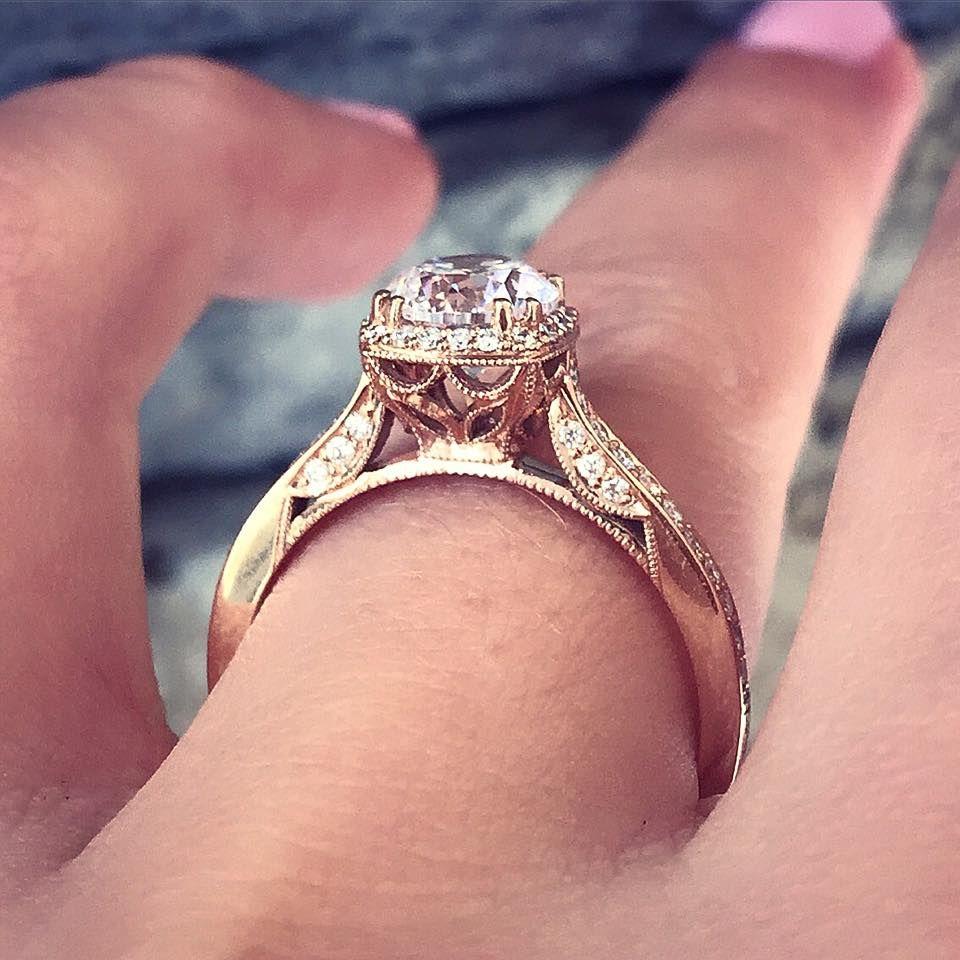 Tacori Engagement Rings Rose Gold 18k 0.25ctw Setting | Pinterest ...