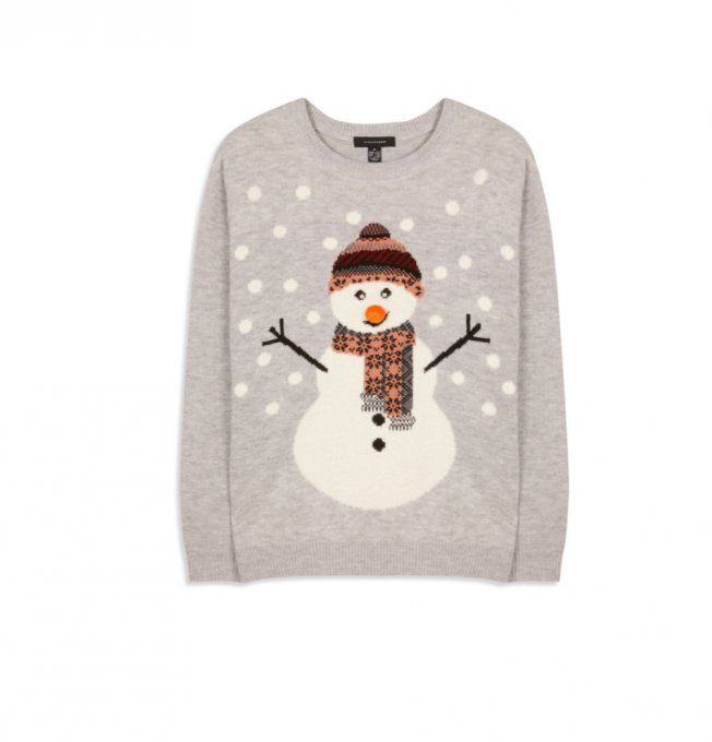 Unisexe Noël Pull Hommes Femmes Tricot Motif de Noël Hiver Pull-over Sweater