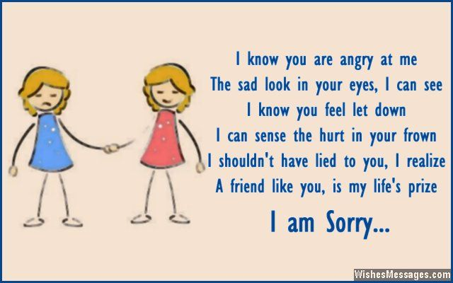 I Am Sorry Messages for Friends: Apology Quotes and Notes | To Try