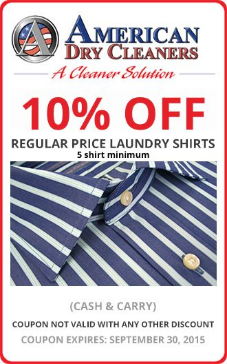 Specials Dry Cleaning Coupons Dry Cleaners Laundry Shirts