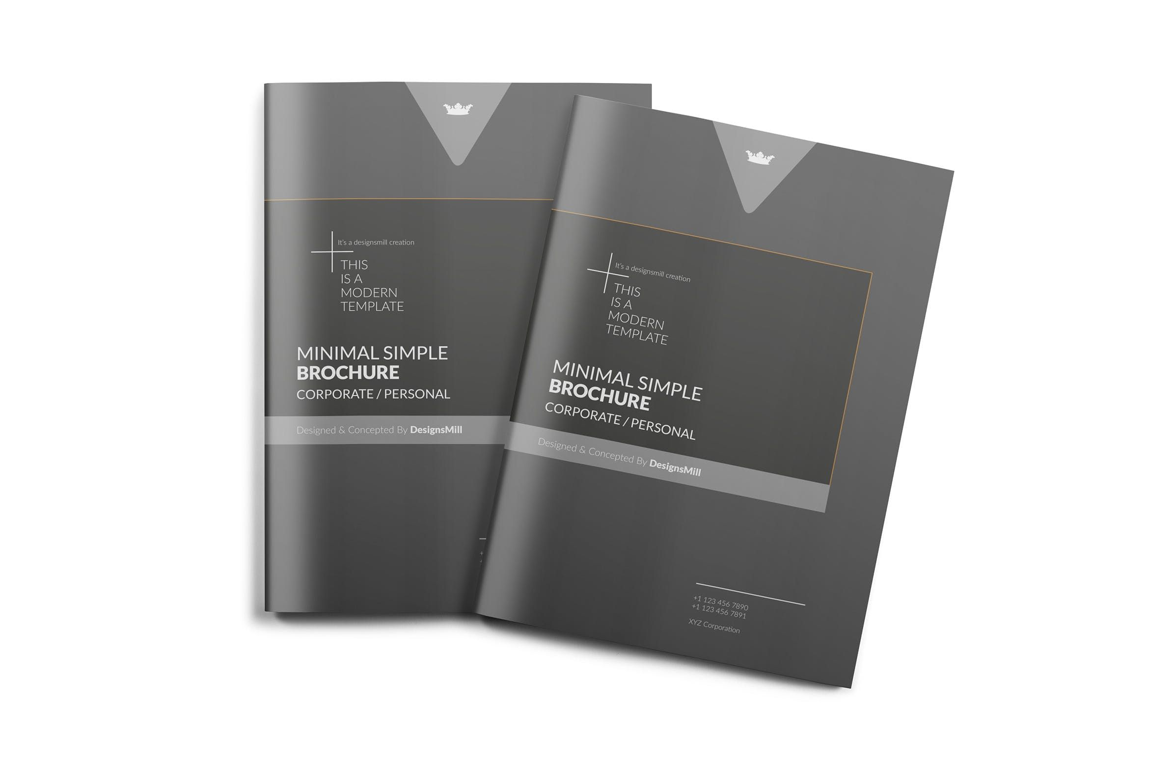 Swiss Style Black And Grey Excellent Combination Brochure Layout Us
