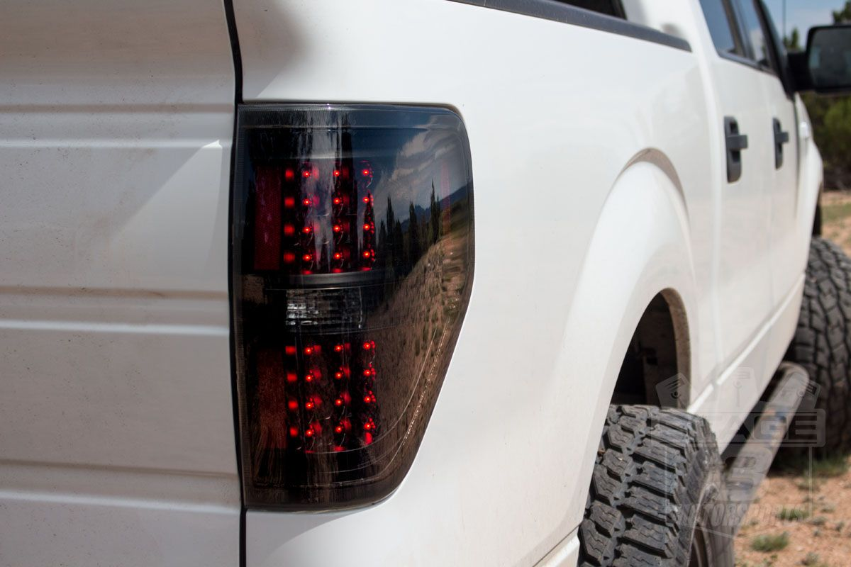 2009 2014 F150 Xtune Smoked Led Taillights Installed On A 2011 F150 F150 Work Truck Trucks